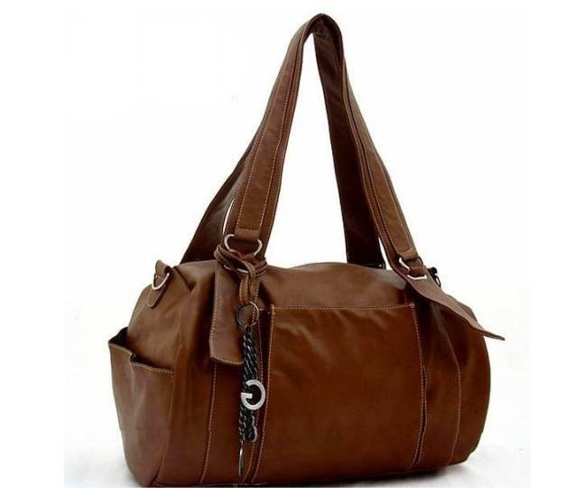 (XHF-LADY-026) fashion brown pu handbag for lady