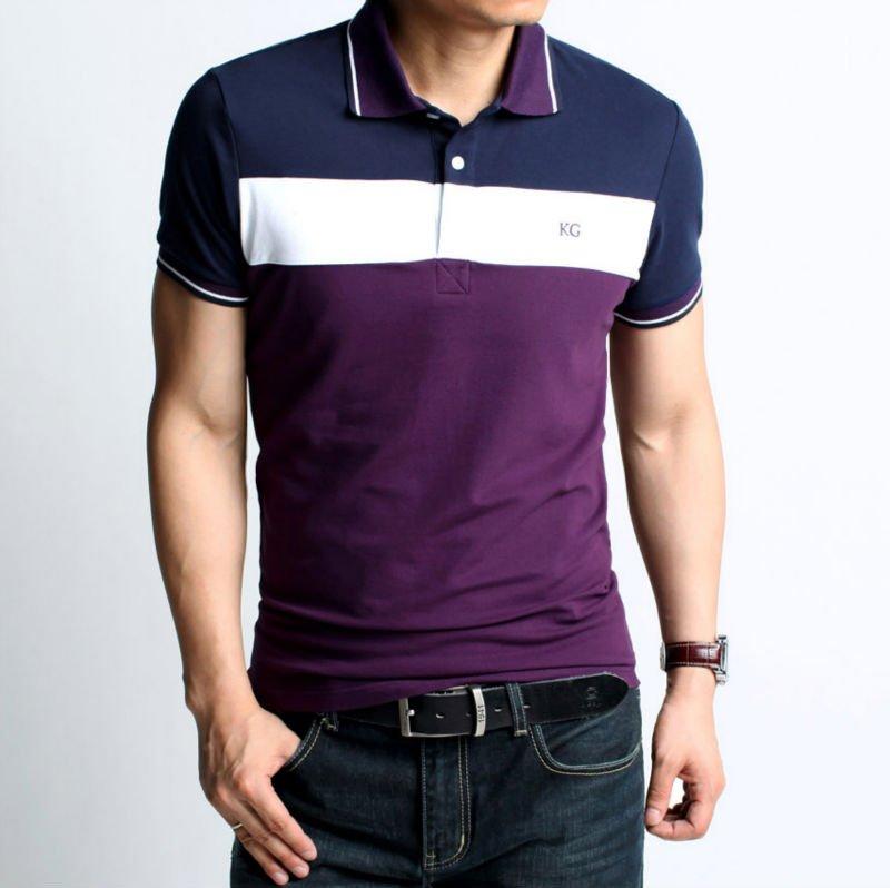 Purple Polo Shirts Men