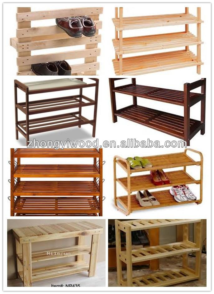 Fsc Antique Handmade Wooden / Bamboo Shoe Rack Shoe Display Rack ...