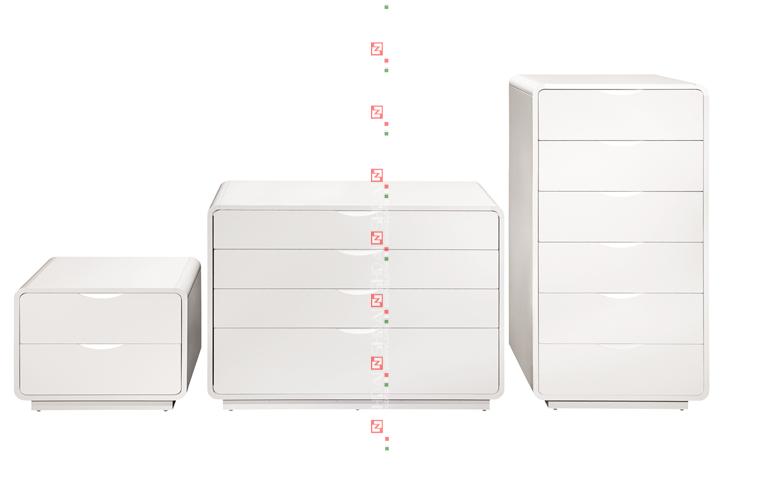 B54 Modern White Gloss Bedroom FurnitureHand Made Wooden Bed