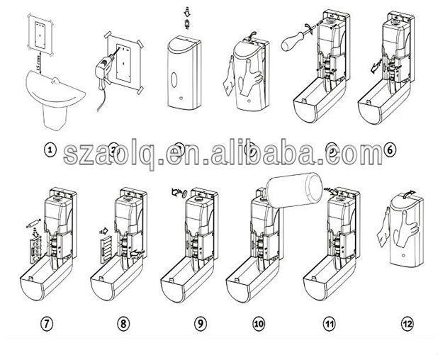 Hospital Automatic Electric Hand Sanitizer Dispenser Gel Dispenser