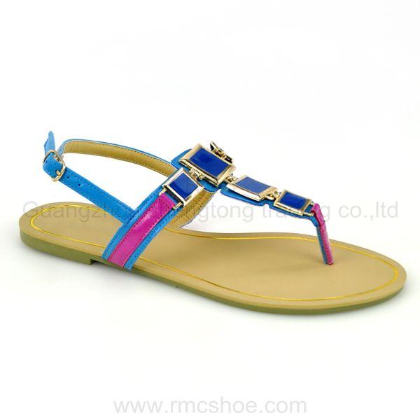 2014 New Design Colorful Flat Sandel Shoes Buy Sandel