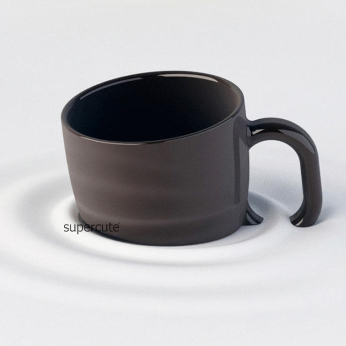 unique design blackwhite sinking custom promotion blank coffee ceramic coffee mug