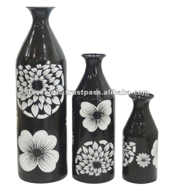 Pintado a mano floreros de metal buy product on - Fotos jarrones con flores ...
