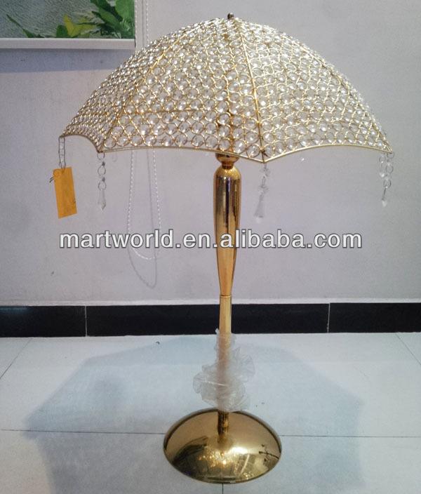 2018 New Design Gold Crystal Umbrella Wedding Table Centerpiece For Wedding  Decoration,table Centerpieces(