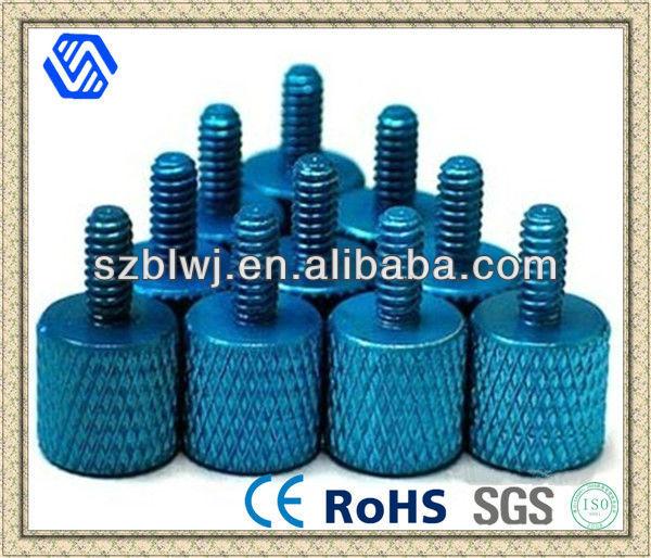 Anodized Aluminum Thumb screws Blue 8 Pcs.