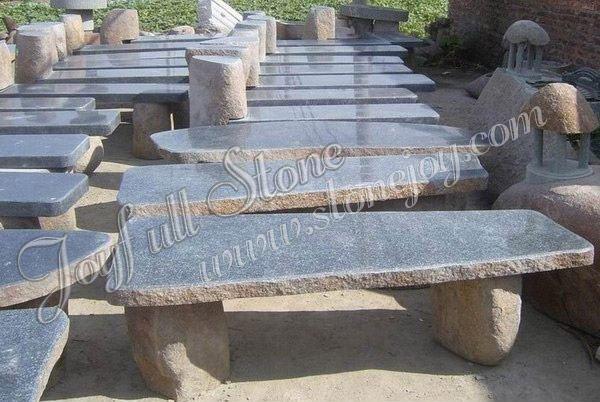 Banco de piedra para jardin u bancos de mesa y sillas - Bancos de piedra para jardin ...
