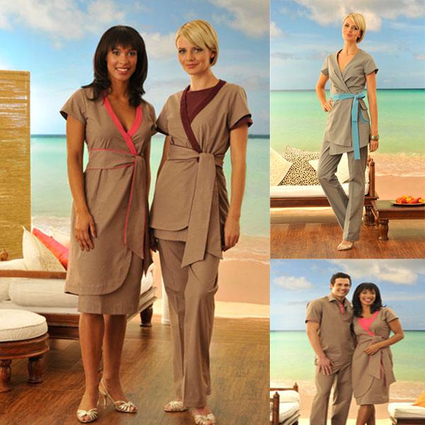 Spa uniform spa staff wear tunics buy spa uniform spa for Spa uniform france