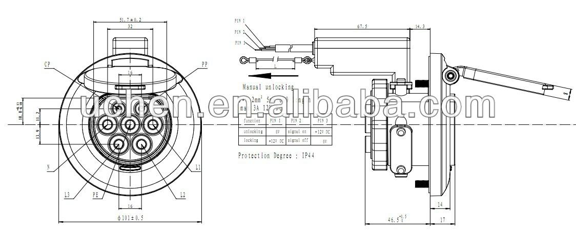 sae j1772 ev connector wiring diagram