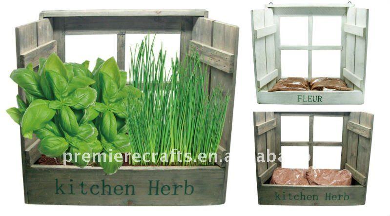 mini garten in der kuche, holz küche kräutertöpfen mini-garten diy pflanzer vertikalen garten, Design ideen