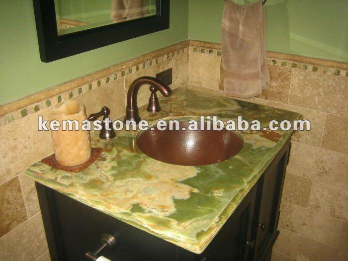 Bathroom Vanity Top Green Onyx Top View Onyx Top Kema