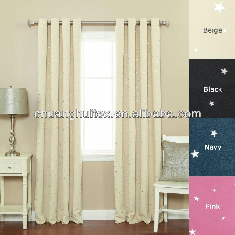 Grommet Star Print Thermal Blackout Window Curtain 84 Quot L