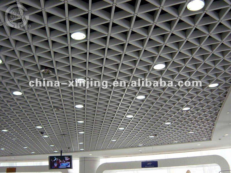 Decorative Aluminum Triangular Grid Ceiling Buy Grille