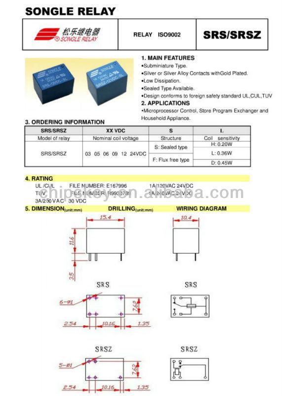 5 Volt Relay 5 pin