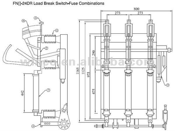 new  lbs 24kv fn24 indoor h v  vacuum load break switch