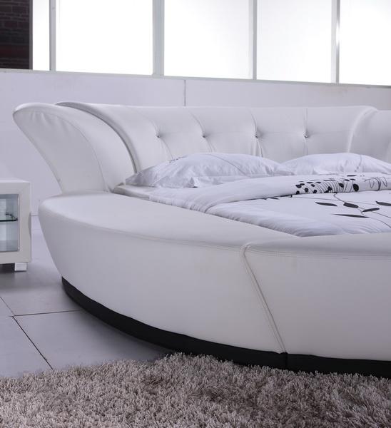 Vrolijke avond goedkope witte lederen diamant bed f6820 buy product on - Wit lederen bed ...
