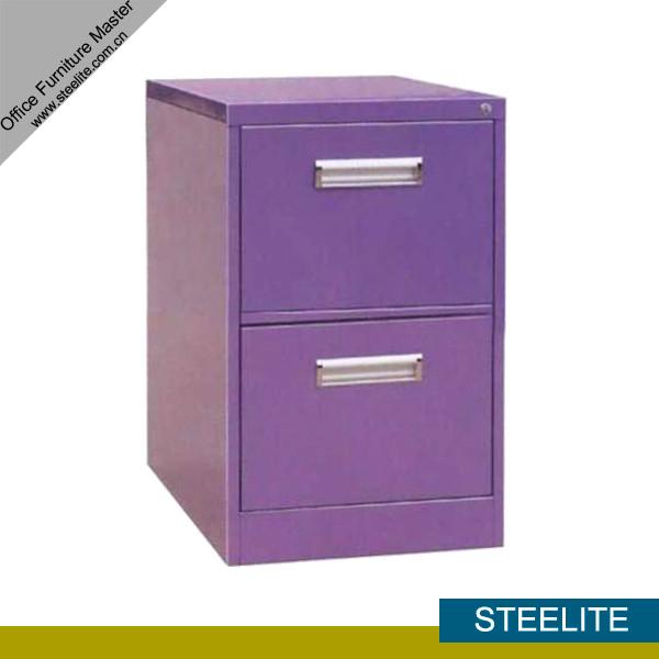 Laptop 2-drawer Purple Metal File Cabinet On Girls Desk / Mini Two ...