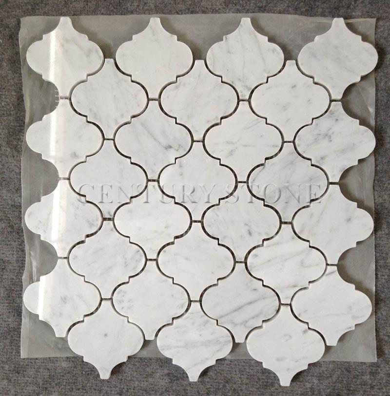 new crystal glass mosaic arabesque pattern red backsplash tile