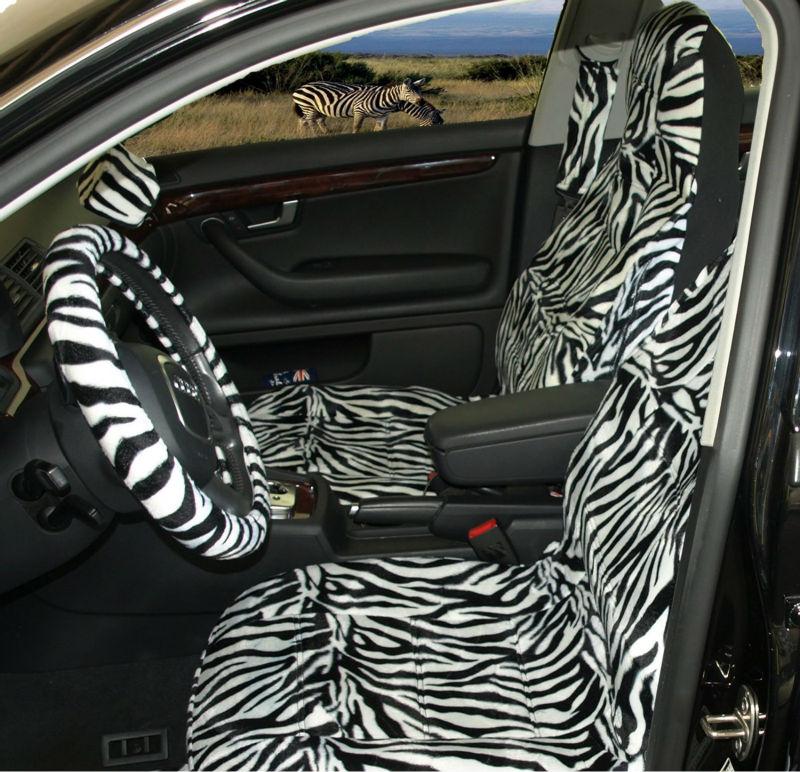 Safari Zebra Print Hoge Rug Voor Auto Stoelhoezen