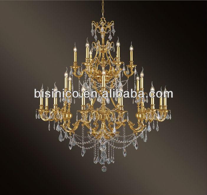franzsisch jugendstil kronleuchter kristall messing bronze kronleuchter lampe - Bronze Kronleuchter