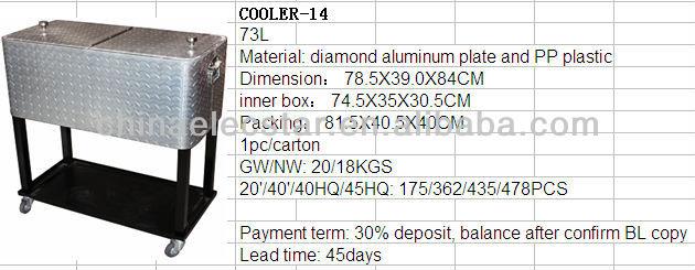 Ice Cooler Cart/beverage Cooler Cart/outdoor Ice Beverage Drink Rolling Cooler  Cart/