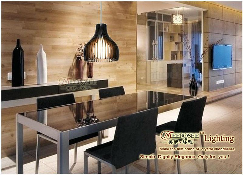 Lujo y elegante moderno colgante de luz led l mpara - Lamparas modernas comedor ...
