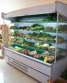 Supermarket Commercial Freezer Fridge Vegetable Fruit Display ...