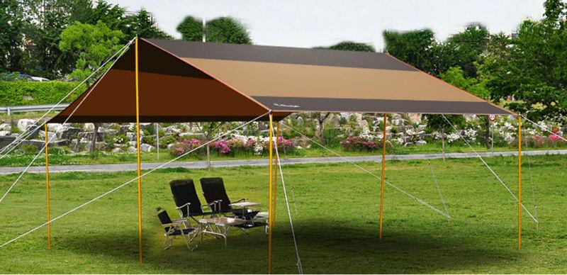 Canvas tarpaulin fly tent dining fly tarp tent buy tarp for Canvas tent fly