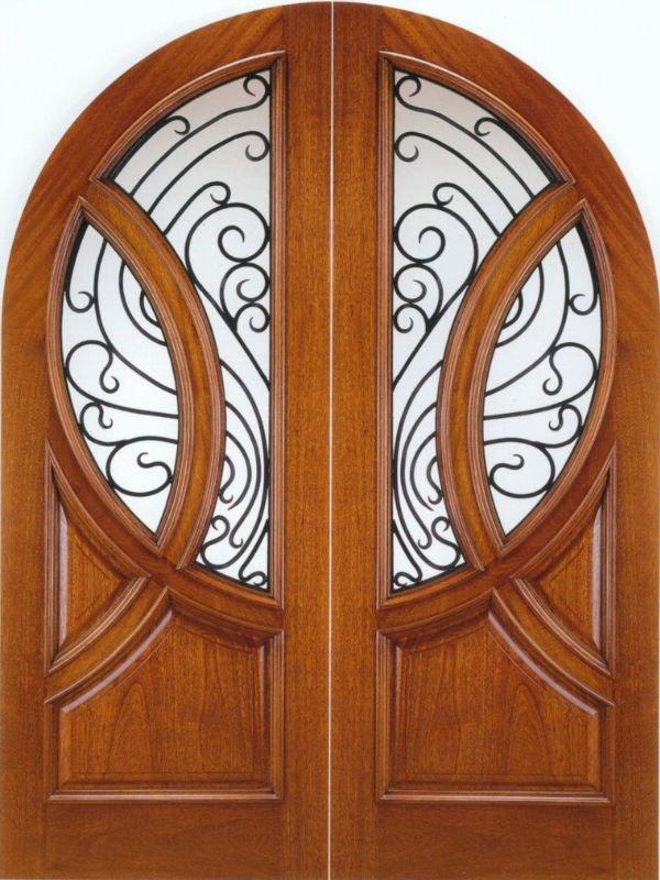 Arched outer solid wood exterior door dj s9977mw buy for Round door design