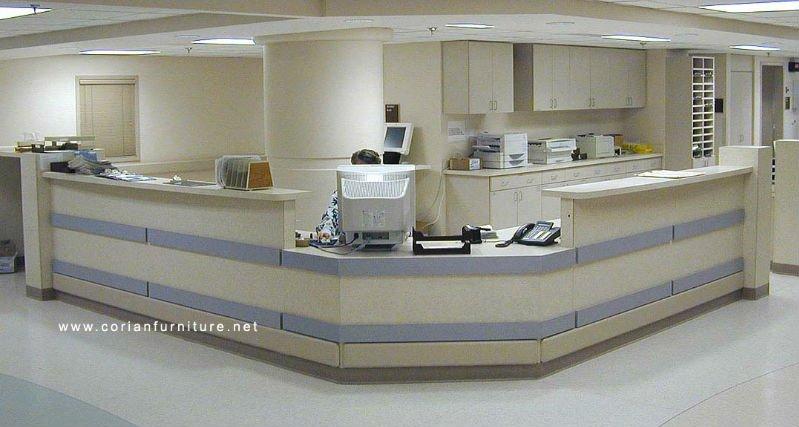Modern Hospital Reception Desk Nurse Station Counter