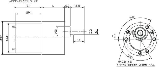 Wicta high quality dc gear motor 6v12v 24v buy high for Dc gear motor specifications