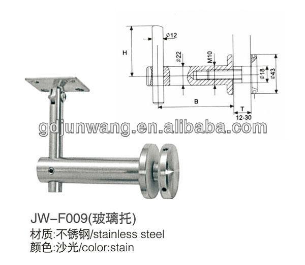 Abrazadera de cristal barandilla de acero inoxidable jw f034 buy product on - Accesorios de acero inoxidable para barandillas ...