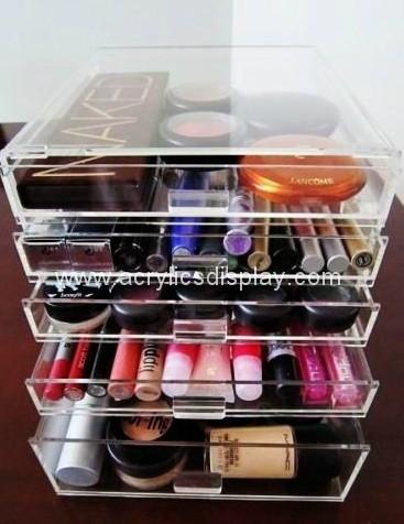 Acrylic Mac Makeup Beauty Case Box