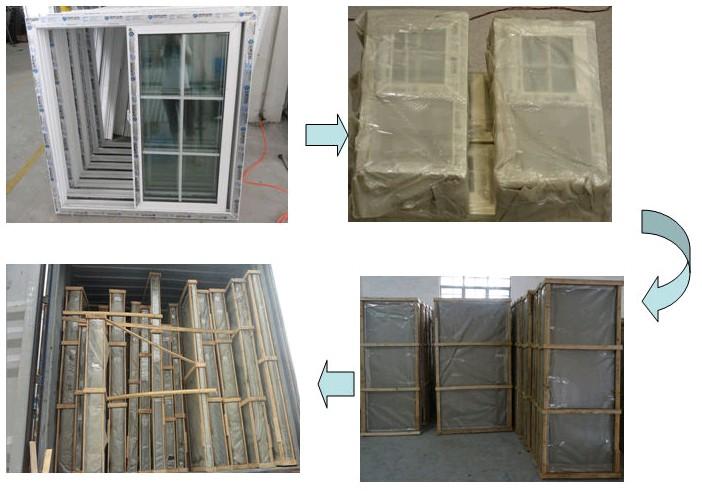 Top Quality French Aluminum Window Waterproof Window Screen Aama ...