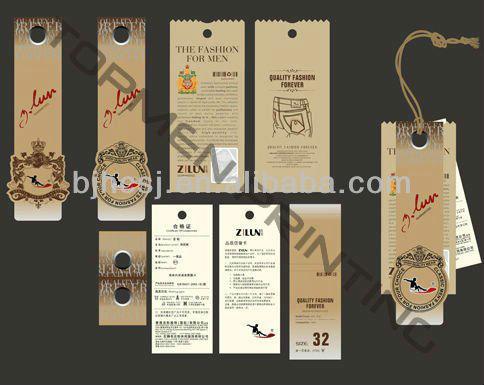 Hang Tag Design Clothing Tag Paper Garment Hang Tag - Buy Hang Tag ...