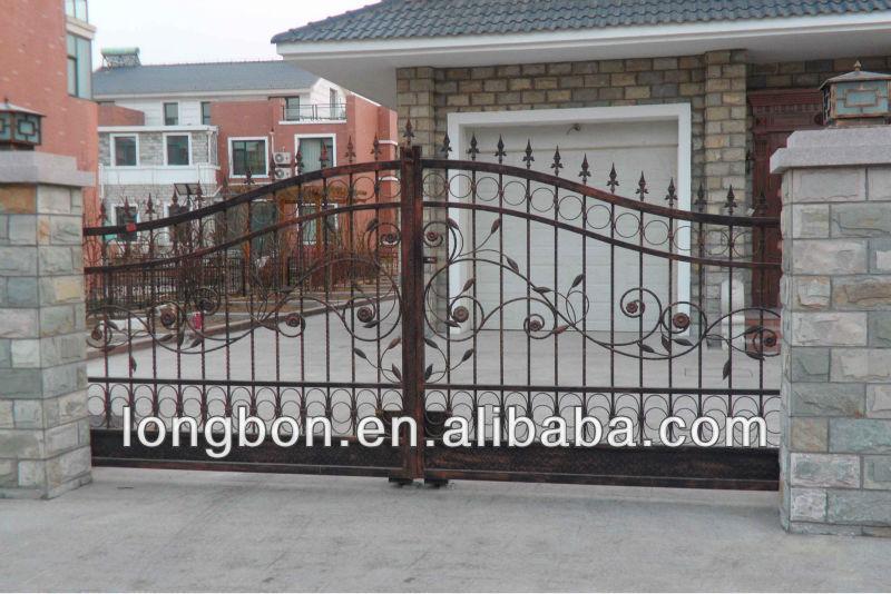 Top Selling Driveway Sliding Wrought Iron Gate Malaysia