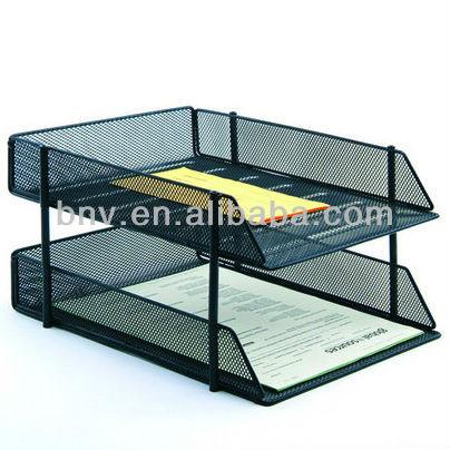 Office Metal Mesh Desk 5 Tier Office Documents Tray File