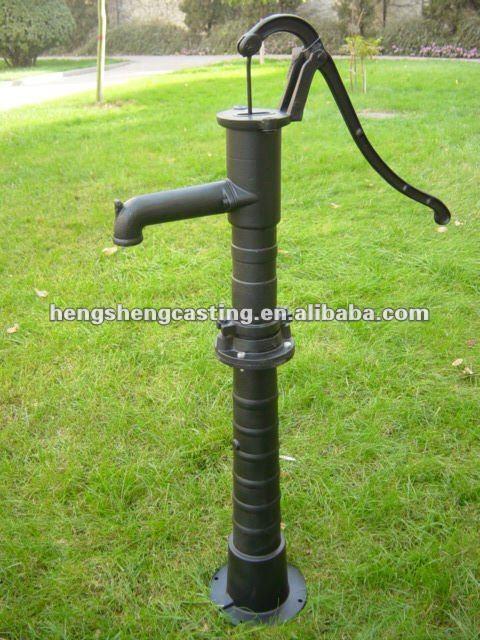 cast iron decorative manual hand water pump buy hand. Black Bedroom Furniture Sets. Home Design Ideas