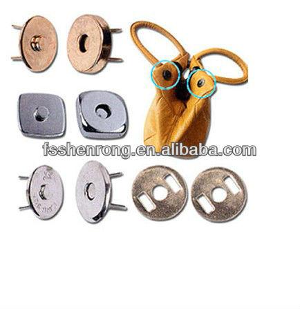 Clasp Handbag Magnetic Snaps Rivet