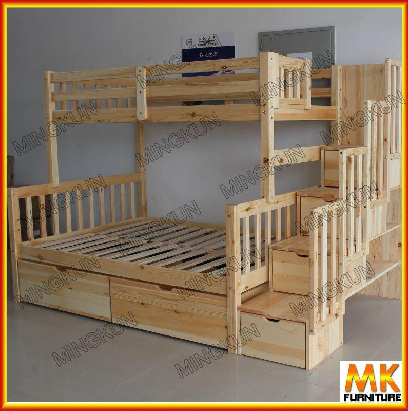 Crian as cama de beliche do pinho com escada e gaveta - Camas en l para ninos ...