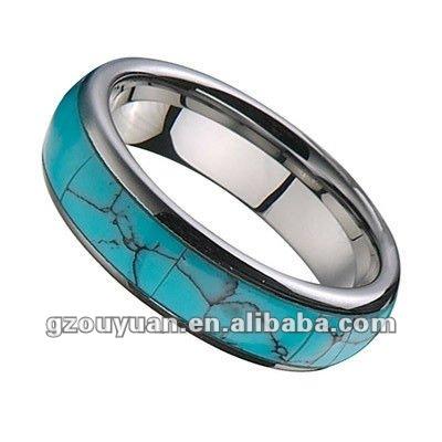 Men Tungsten Turquoise Ringnewest Design Buy Tungsten Turquoise
