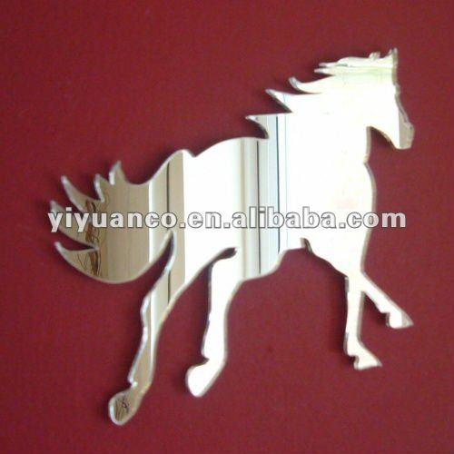 Animal shape acrylic mirror wall stickers