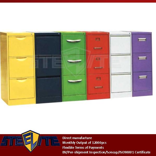 glossy white 3 drawer metal file cabinet/portable girls bedroom 3 drawer metal file cabinet