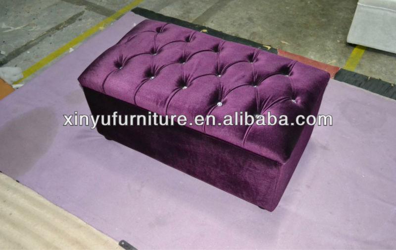Little purple velvet ottoman XY0181 - Little Purple Velvet Ottoman Xy0181 - Buy Purple Velvet Ottoman