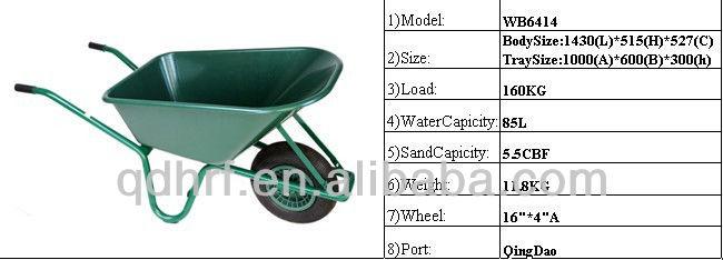 heavy duty wheel barrows WB6414T WHEELBARROW PLASTIC PAN