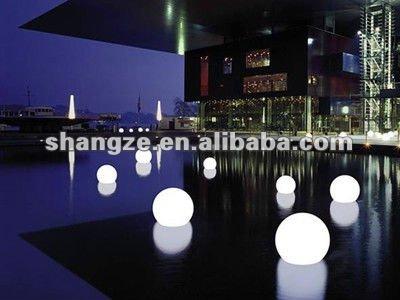 Plastica sfera di luce sfera esterna illuminazione led luci sfera
