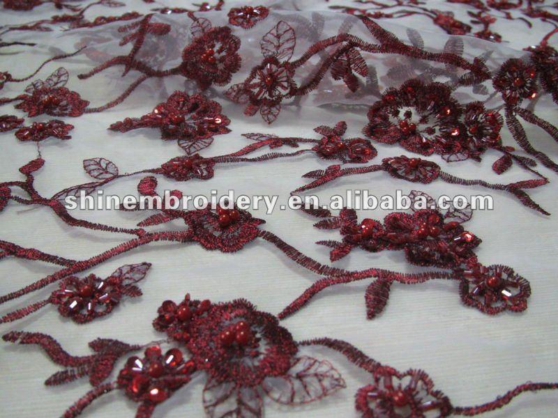 Tissu dentelle pour robe de soiree