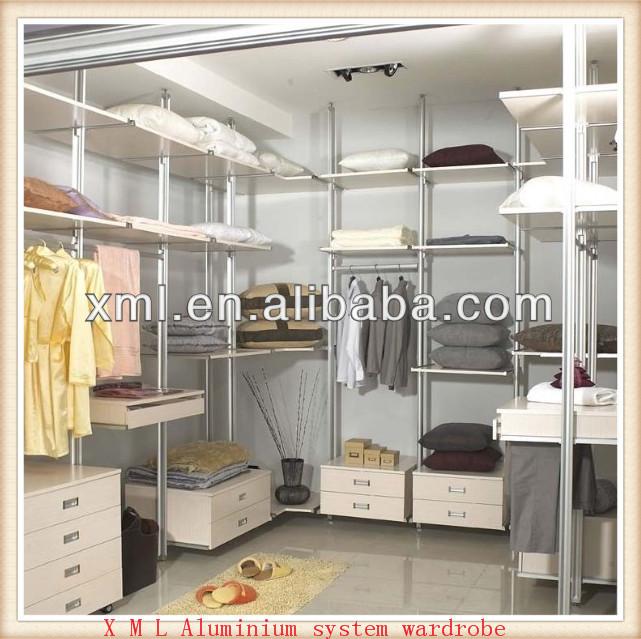 Aluminum Pole Walk-in Closets/ Wardrobe Supplier In China
