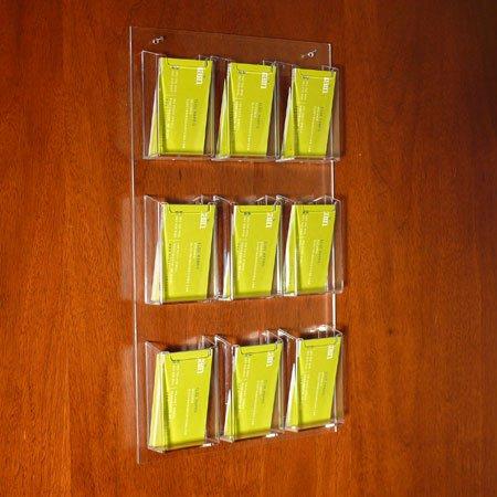 9 Slot Acrylic Wall Flyer Holder Buy Acrylic Flyer