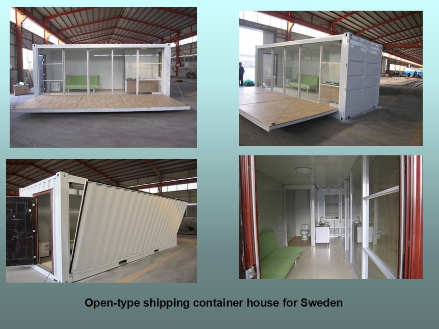 movable flat-pack furnished steel structure sandwich panel container house